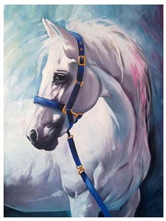 Malen nach Zahlen Bild Weißes Pferd - AZ-1387 von Sonstiger Hersteller