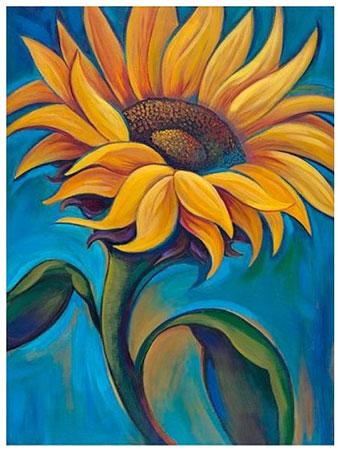 Malen nach Zahlen Bild Sonnenblume - AZ-1392 von Sonstiger Hersteller