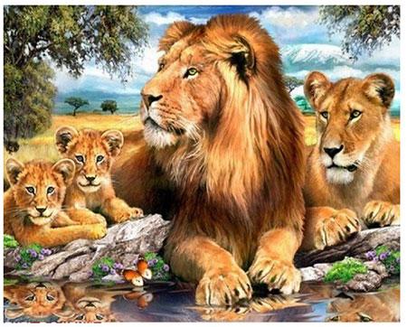 Malen nach Zahlen Bild Löwenfamilie - AZ-1399 von Artibalta