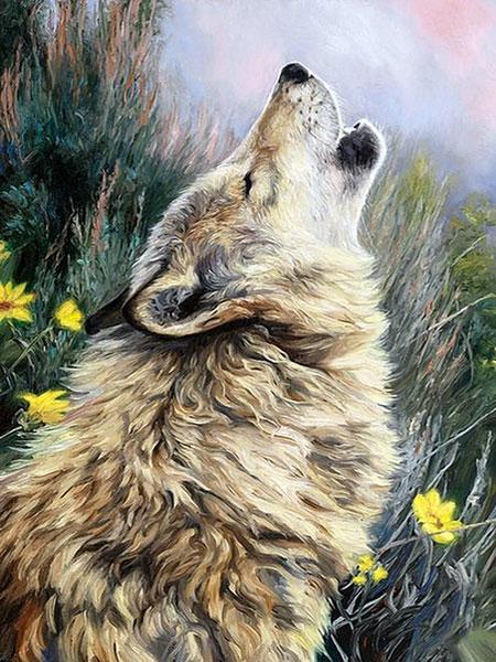 Malen nach Zahlen Bild Heulender Wolf - AZ-1404 von Sonstiger Hersteller