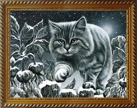 Malen nach Zahlen Bild Heranschleichende Katze - AZ-1415 von Sonstiger Hersteller