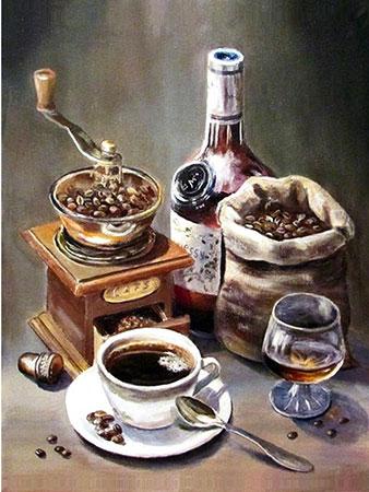 Malen nach Zahlen Bild Alles aus Kaffee - AZ-1434 von Sonstiger Hersteller