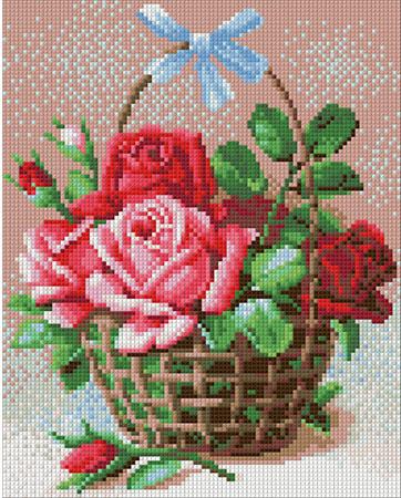 Korb voller Rosen