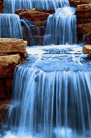Unruhiges Wasser