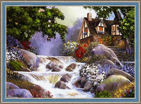 Malen nach Zahlen Bild Haus in Flussnähe - AZ-1495 von Sonstige