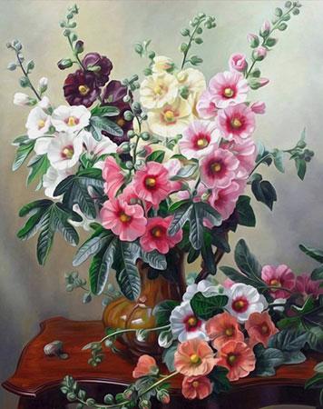 Malen nach Zahlen Bild Heller Blumenstrauß - AZ-1506 von Sonstiger Hersteller