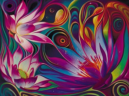 Malen nach Zahlen Bild Mystischer Lotus - AZ-1507 von Artibalta