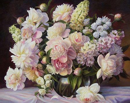Malen nach Zahlen Bild Blumen-Bukett - AZ-1509 von Sonstiger Hersteller