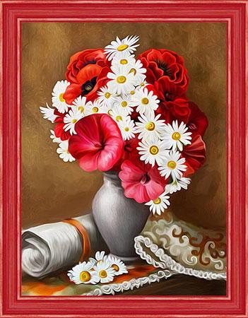 Malen nach Zahlen Bild Helle Mohnblumen - AZ-1510 von Sonstiger Hersteller