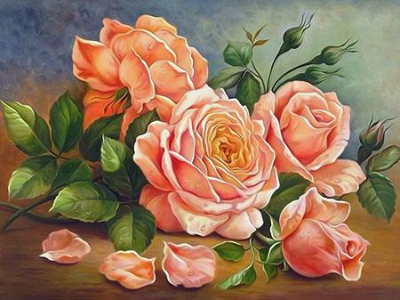Malen nach Zahlen Bild Duft der Rosen - AZ-1514 von Sonstiger Hersteller