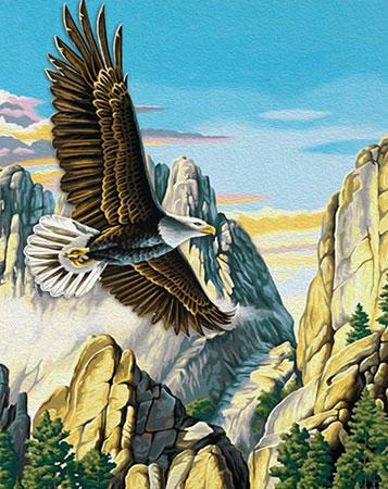 Malen nach Zahlen Bild Adler in den Bergen - AZ-1518 von Artibalta