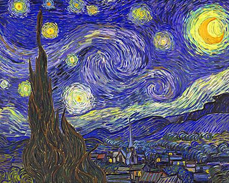 Malen nach Zahlen Bild Sternennacht, van Gogh - AZ-1528 von Sonstiger Hersteller