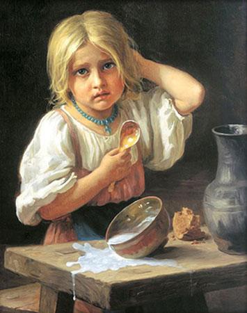 Malen nach Zahlen Bild Verschüttete Milch - AZ-1529 von Sonstiger Hersteller