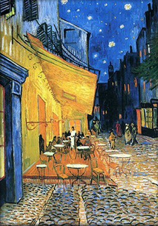 Malen nach Zahlen Bild Caféterrasse am Abend, van Gogh - AZ-1538 von Artibalta