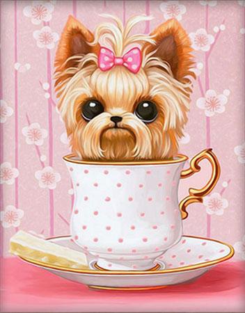 Hund in der Tasse