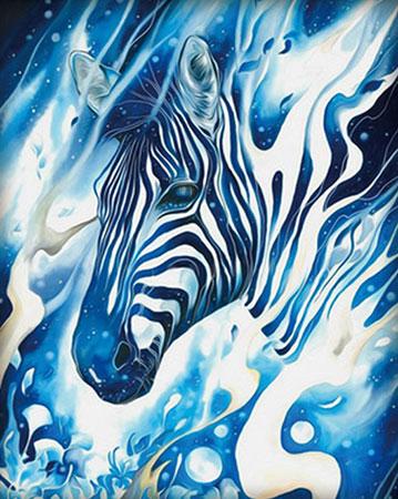 Malen nach Zahlen Bild Verschwimmendes Zebra - AZ-1552 von Artibalta