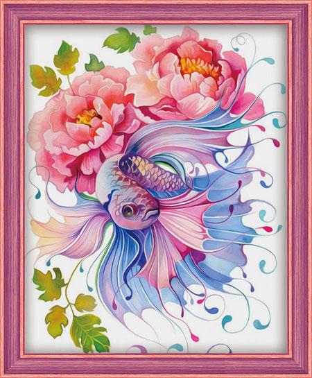 Malen nach Zahlen Bild Wasserfarben-Fantasie - AZ-1557 von Artibalta