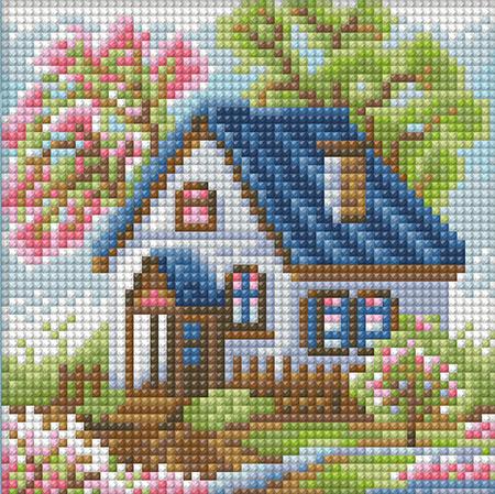 Malen nach Zahlen Bild Haus im Frühling - AZ-1567 von Sonstiger Hersteller