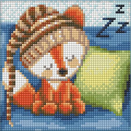 Malen nach Zahlen Bild Schlummernder Fuchs - AZ-1573 von Sonstiger Hersteller