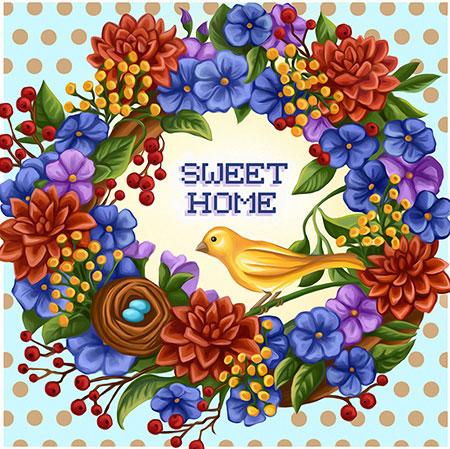 Malen nach Zahlen Bild Home Sweet Home - AZ-1580 von Sonstiger Hersteller