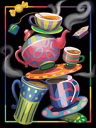 Malen nach Zahlen Bild Tee-Phantasien - AZ-1581 von Sonstiger Hersteller