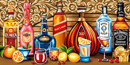 Malen nach Zahlen Bild Alles für Cocktails - AZ-1582 von Sonstiger Hersteller