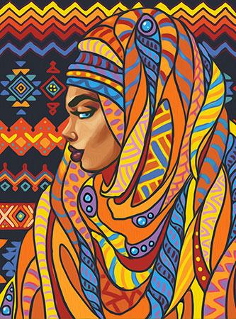Malen nach Zahlen Bild Schönheit aus Togo - AZ-1591 von Sonstiger Hersteller