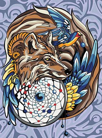 Malen nach Zahlen Bild Magisches Tieramulett - AZ-1592 von Sonstiger Hersteller
