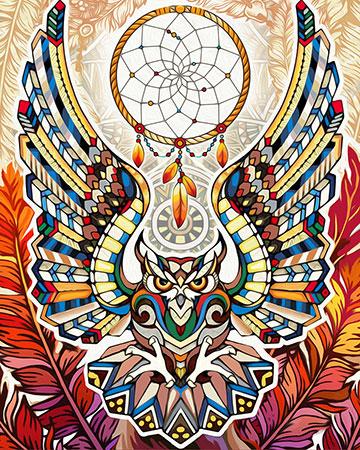 Malen nach Zahlen Bild Spiritueller Traumfänger - AZ-1594 von Sonstiger Hersteller