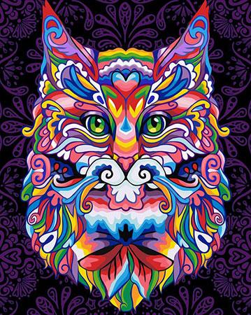Malen nach Zahlen Bild Fantasy-Katze - AZ-1596 von Sonstiger Hersteller