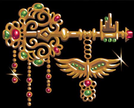 Malen nach Zahlen Bild Goldener Schlüssel - AZ-1597 von Artibalta