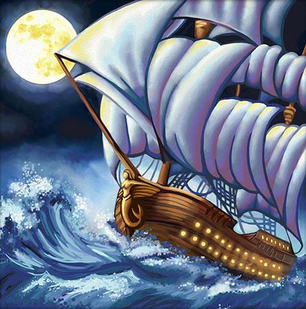 Malen nach Zahlen Bild Segelschiff im Sturm - AZ-1601 von Artibalta