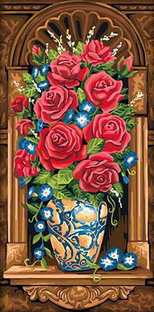 Malen nach Zahlen Bild Antiker Blumenstrauß - AZ-1603 von Sonstiger Hersteller