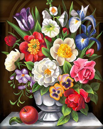 Malen nach Zahlen Bild Bunter Blumenstrauß - AZ-1604 von Artibalta