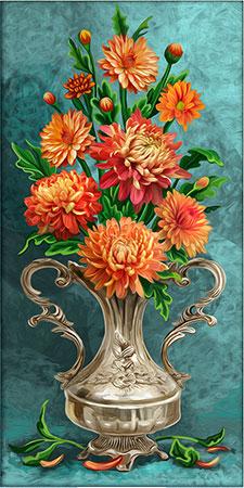 Malen nach Zahlen Bild Chrysanthemen - AZ-1633 von Sonstiger Hersteller