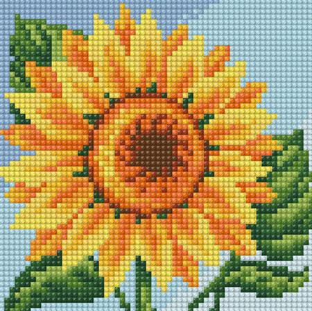 Malen nach Zahlen Bild Bunte Sonnenblume - AZ-1635 von Artibalta