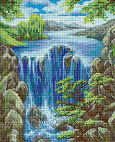 Malen nach Zahlen Bild Paradiesischer Wasserfall - AZ-1643 von Artibalta