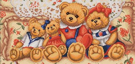 Malen nach Zahlen Bild Teddybär Familie - AZ-1645 von Artibalta