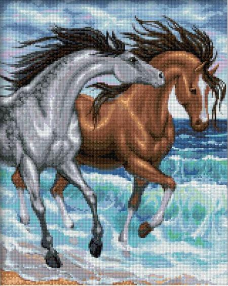 Stürmische Pferde