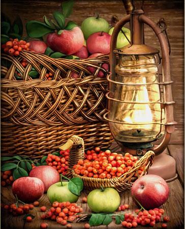 Malen nach Zahlen Bild Äpfel im Korb - AZ-1706 von Sonstiger Hersteller