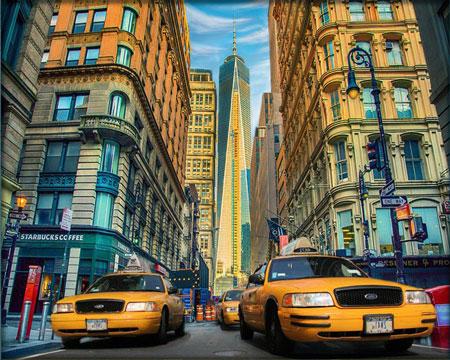 Malen nach Zahlen Bild Taxi in New York - AZ-1707 von Sonstiger Hersteller