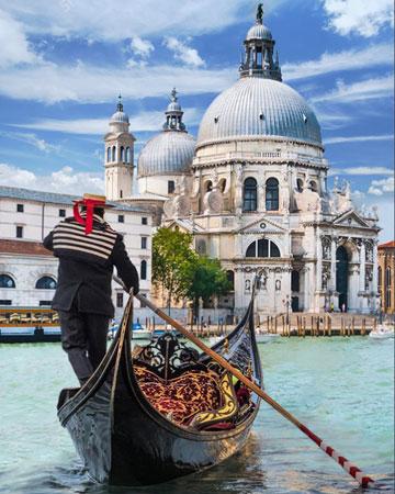 Malen nach Zahlen Bild Mit dem Boot durch Venedig - AZ-1719 von Sonstiger Hersteller