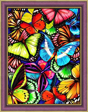 Malen nach Zahlen Bild Schmetterlingmosaik - AZ-1725 von Sonstiger Hersteller