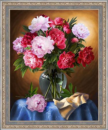 Malen nach Zahlen Bild Rosarote Blumenvase - AZ-1734 von Sonstiger Hersteller