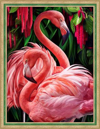 Malen nach Zahlen Bild Flamingo-Pärchen - AZ-1739 von Sonstiger Hersteller