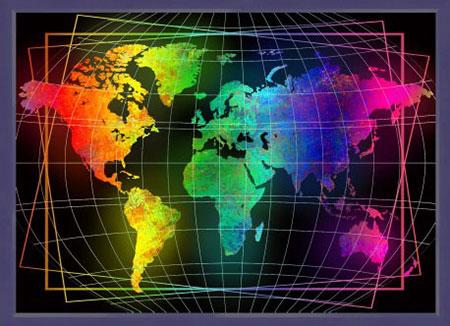 Malen nach Zahlen Bild Weltkarte - AZ-1747 von Sonstiger Hersteller