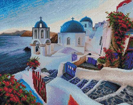 Malen nach Zahlen Bild Abend in Santorini - AZ-1803 von Sonstiger Hersteller