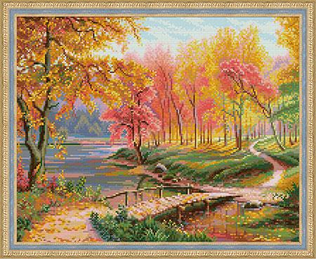 Malen nach Zahlen Bild Herbst im Alten Park - AZ-1822 von Sonstiger Hersteller