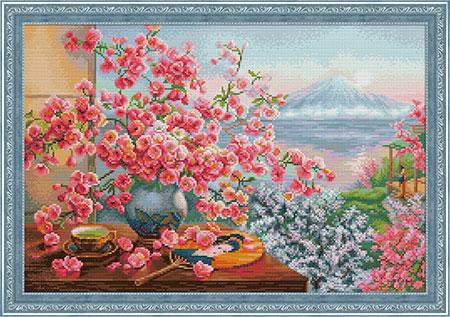 Malen nach Zahlen Bild Sakura-Bouquet - AZ-1823 von Sonstiger Hersteller