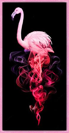 Malen nach Zahlen Bild Flamingo im Rauch - AZ-1829 von Artibalta